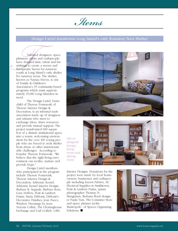 Therese Interior Design Decorating Featured In House Magazine